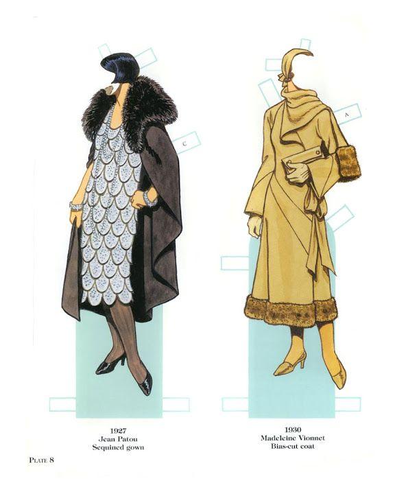 French Fashion Designers Paper Dolls 1900-1950 - Yakira Chandrani - Álbumes web de Picasa