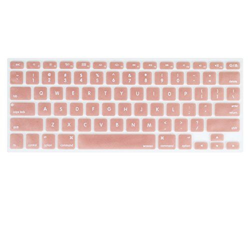 fbd02514d9f Rose Gold Silicone keyboard cover for MacBook Pro 13