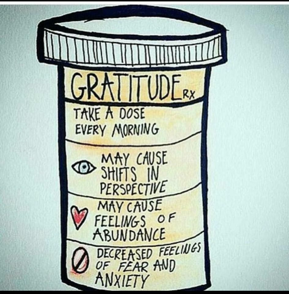 Image result for gratitude take a dose every morning