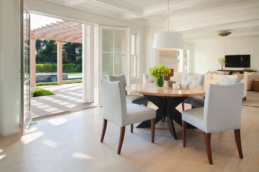 image result for transitional kitchen lighting over table