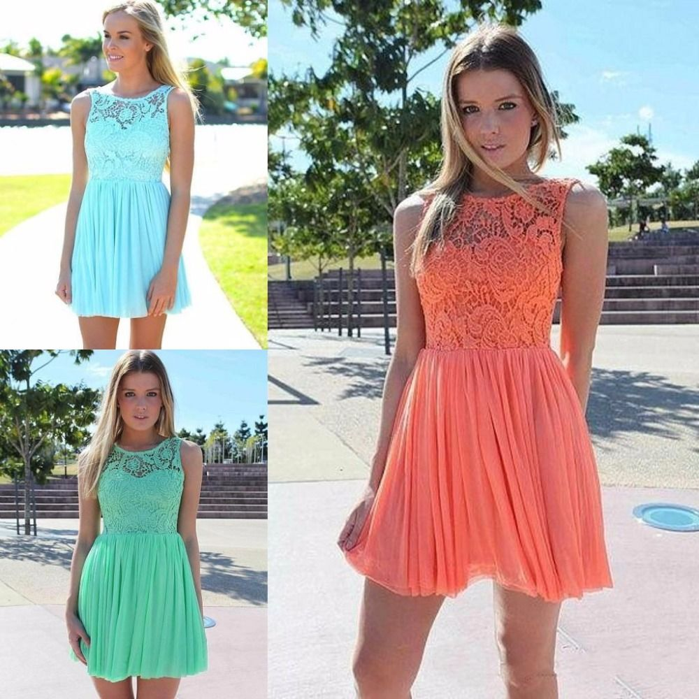 2016 summer beach coral turquoise lace bridesmaid dresses for 2016 summer beach coral turquoise lace bridesmaid dresses for wedding cheap vestido madrinha short wedding party ombrellifo Images