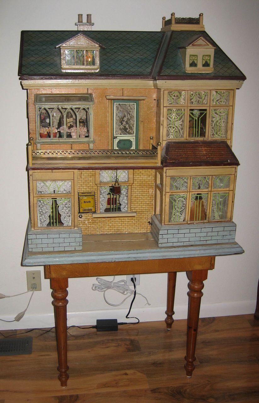 Christian Hacker German antique large doll house