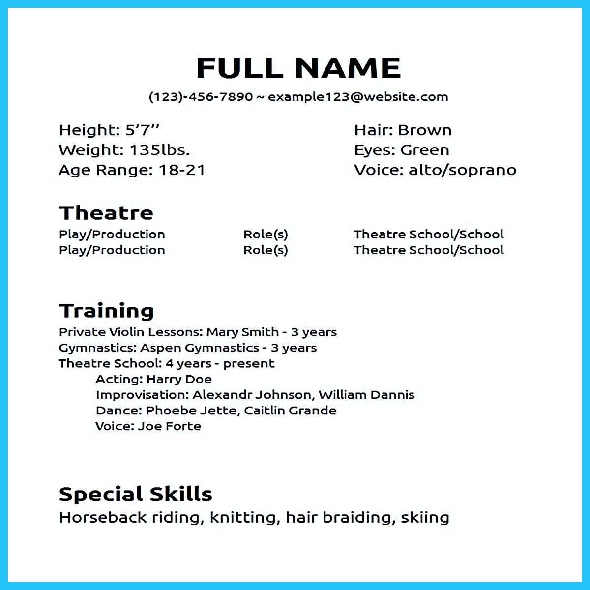 Cool Impressive Actor Resume Sample To Make Check More At Http
