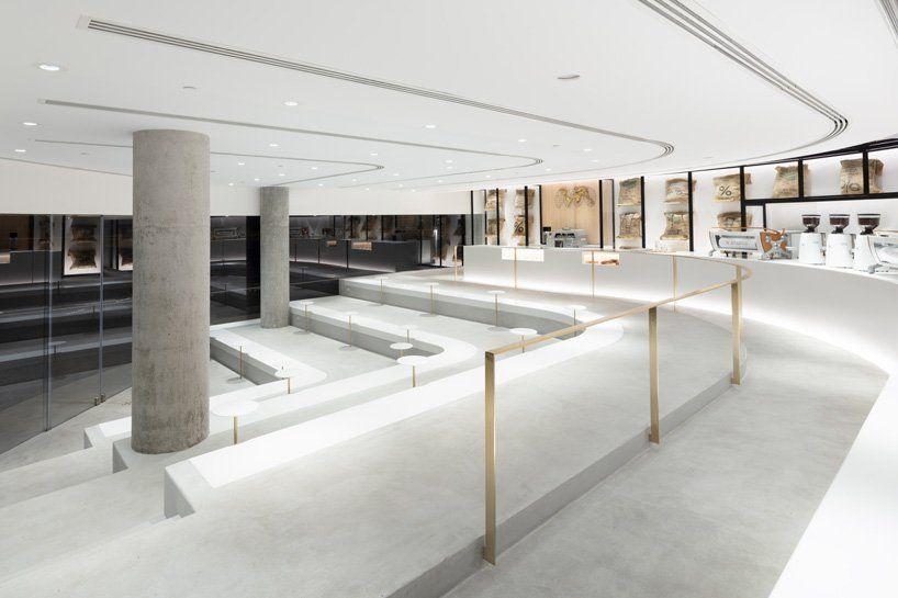Nendo Designs Stair Like Interior For Arabica Coffee Branch In Kuwait Nendo Design Coffee Shop Design