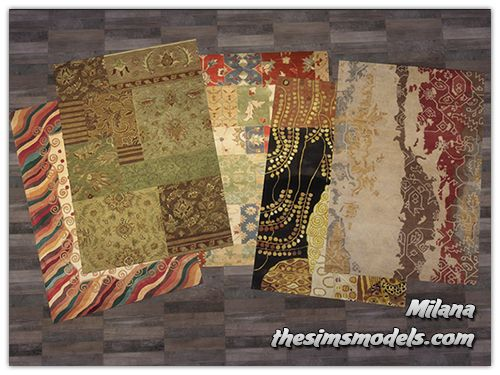 Rugs by Milana at The Sims Models via Sims 4 Updates