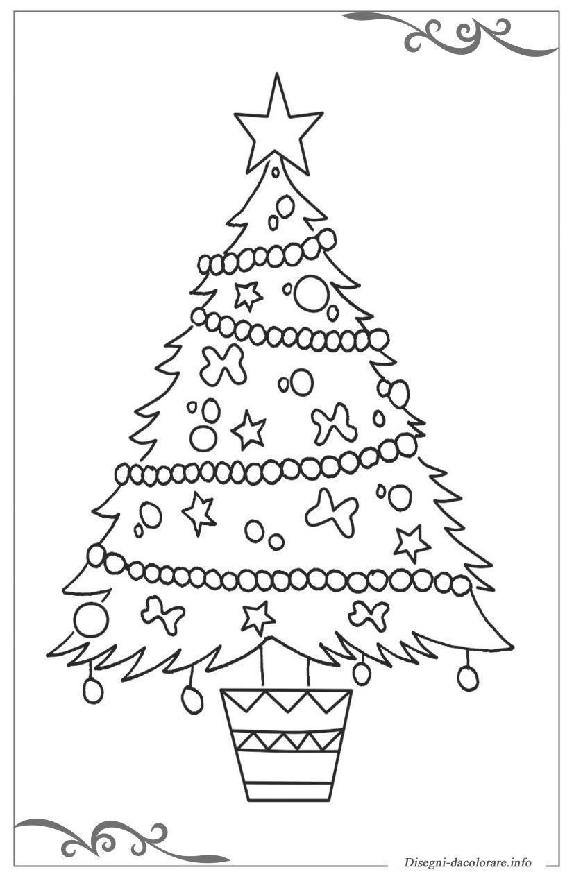 30 Nuova Alberi Di Natale Da Colorare E Stampare Per Bambini