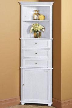 Superbe Hampton Bay Corner Linen Cabinet I   Linen Cabinets   Bathroom Cabinets    Bath | HomeDecorators.com