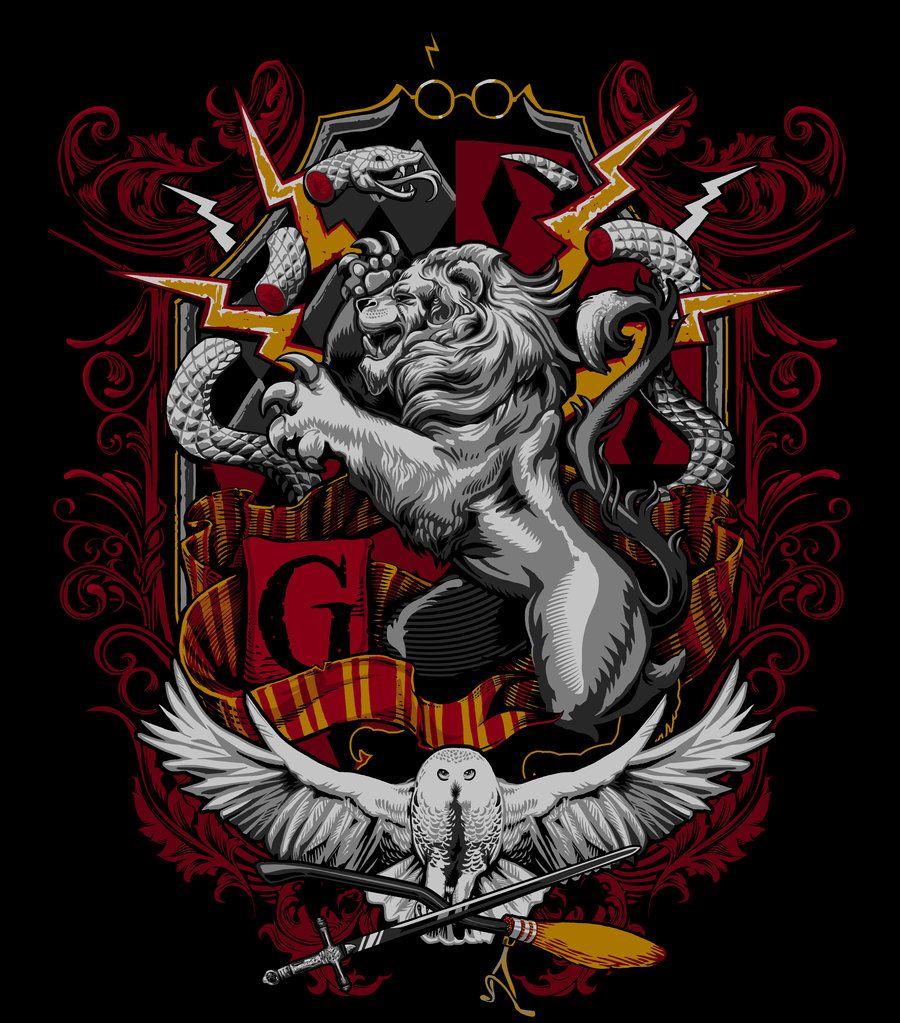 Gryffindor Crest by jimiyo on deviantART Arte do harry