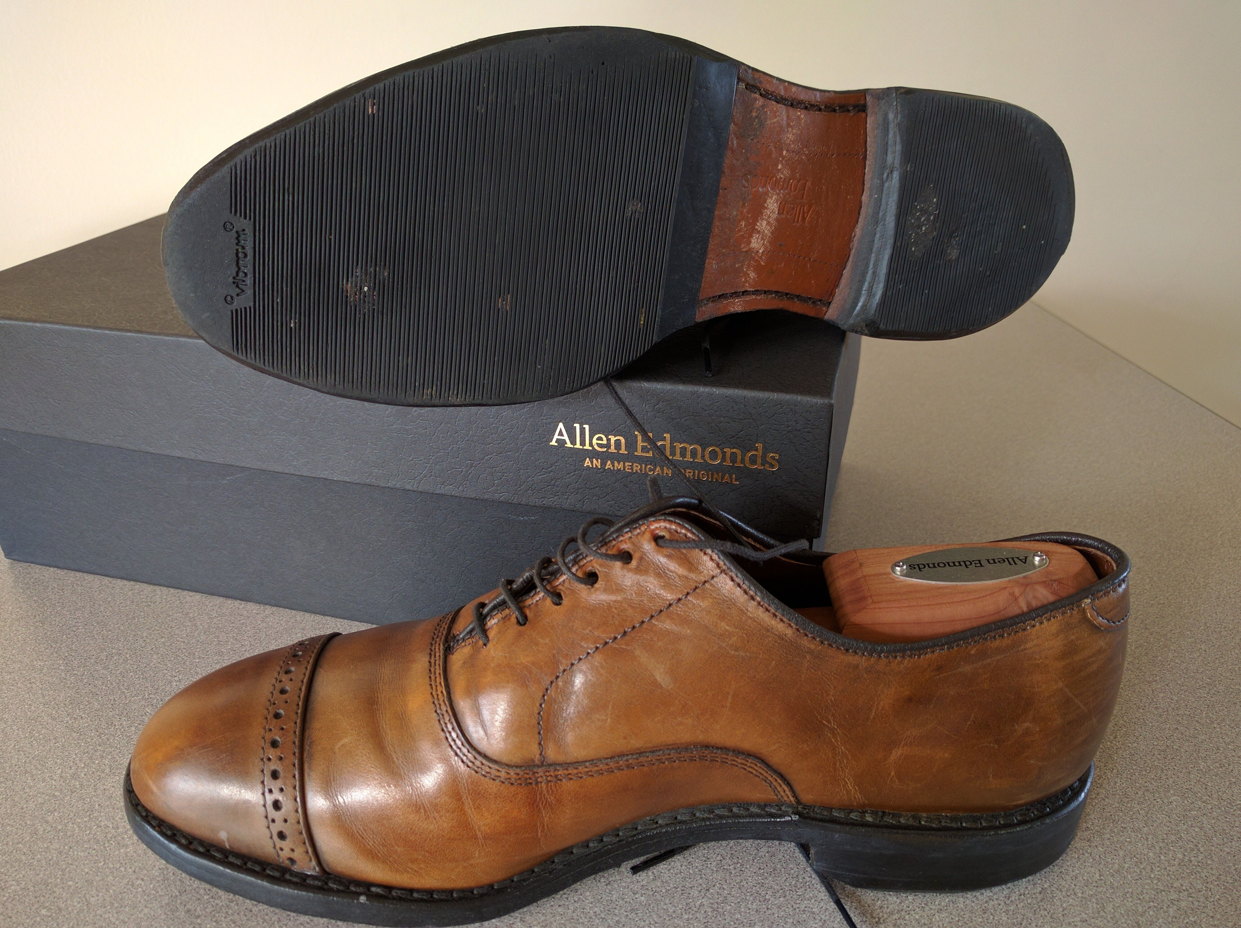 Sole Protectors on Allen Edmonds after 1.5 years #styled247