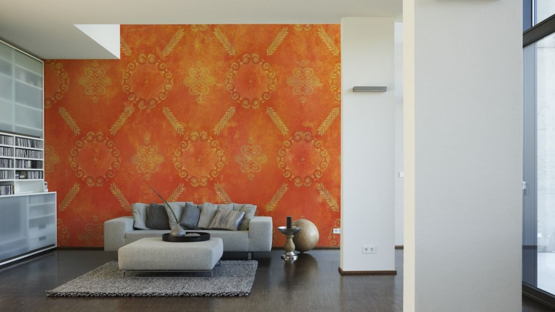 Architects Paper Fototapete Used Look Orange 470029 Schoner Wohnen Tapeten Fototapete Tapeten