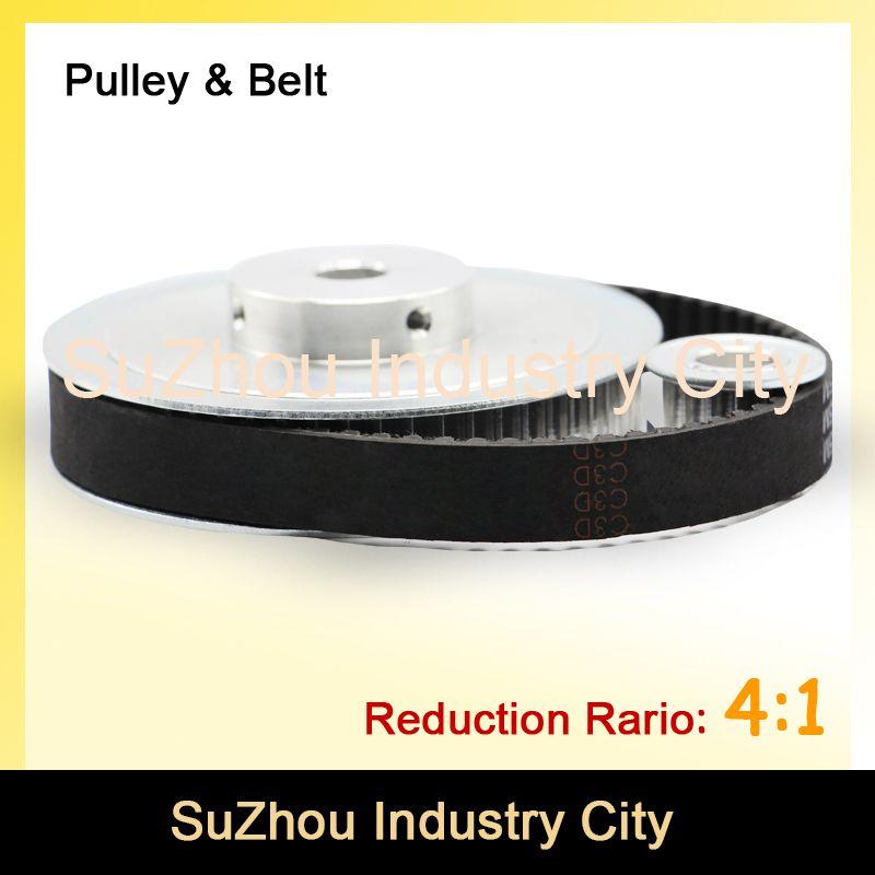 34.68US $  Timing Belt Pulley 5M Reduction  4:1 60teeth 15teeth  shaft center distance 80mm  Engraving machine accessories   belt gear kit gear driven accessories dollgear logo - AliExpress