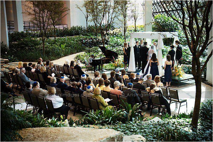 Atrium Wedding Ceremony At The Westin Southfield