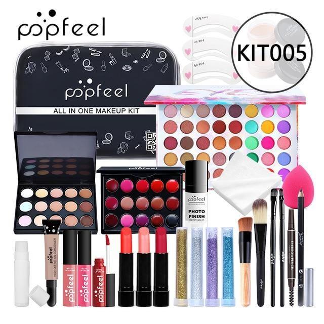 Photo of Professional Makeup Set Mascara Eyebrow Pencil Powder Puff Eyeshadow Lipstick Lip gloss Brush With Storage Bag – POPFEE-30P-KIT005 / Russian Federation