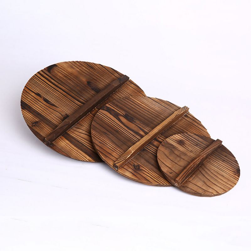 Chinese Iron Hypotenuse Cover Nature Fir Handmade Export Anti Hot Pot Cover Wok Wooden Pan Handle Kitchen Accessori Kitchen Accessories Hot Pot Kitchen Handles
