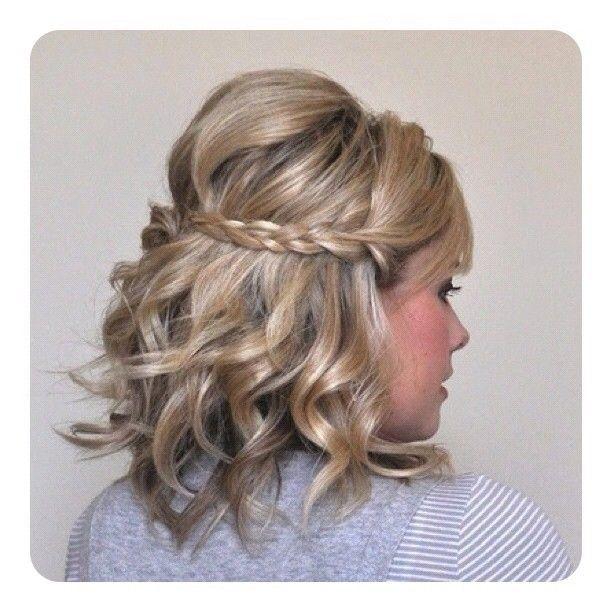 Short Curly Hair With Braid Hair Styles Short Hair Styles Curly Hair Styles