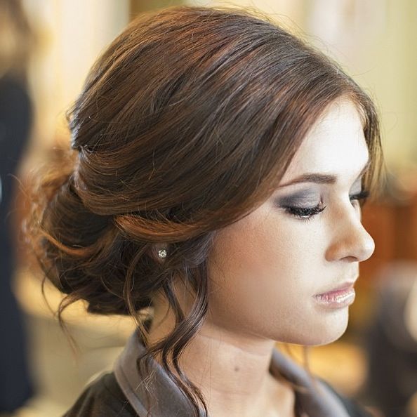 Loose Curls Updo