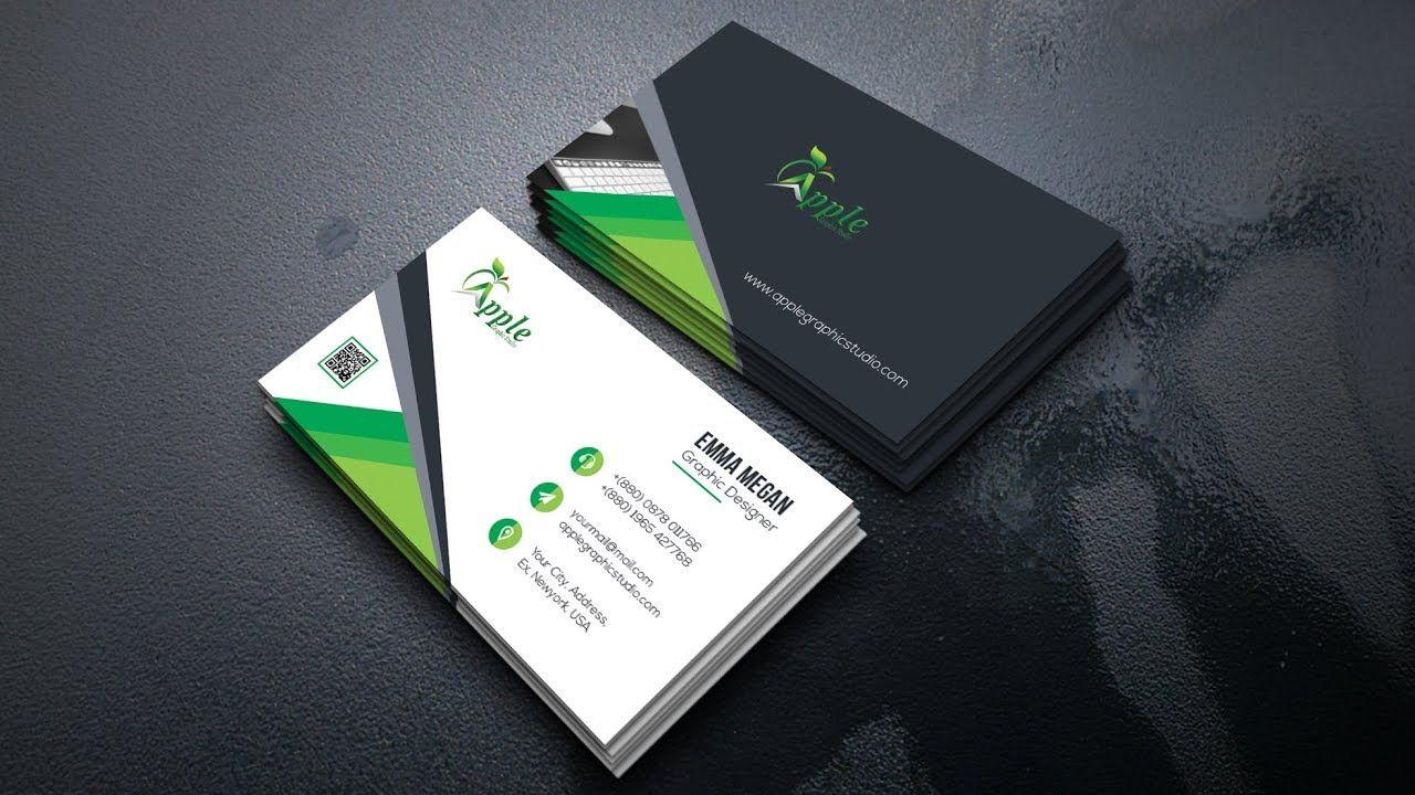 Modern Business Card Design Tutorial In Photoshop Cc Modern Business Cards Business Card Design Card Design