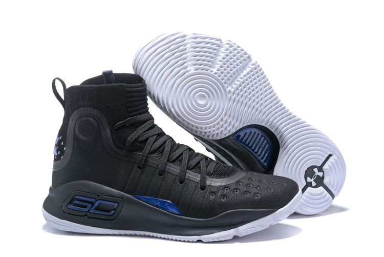 2018 Under Armour Curry 4  More Range  Black Stealth GreyMetallic Silver