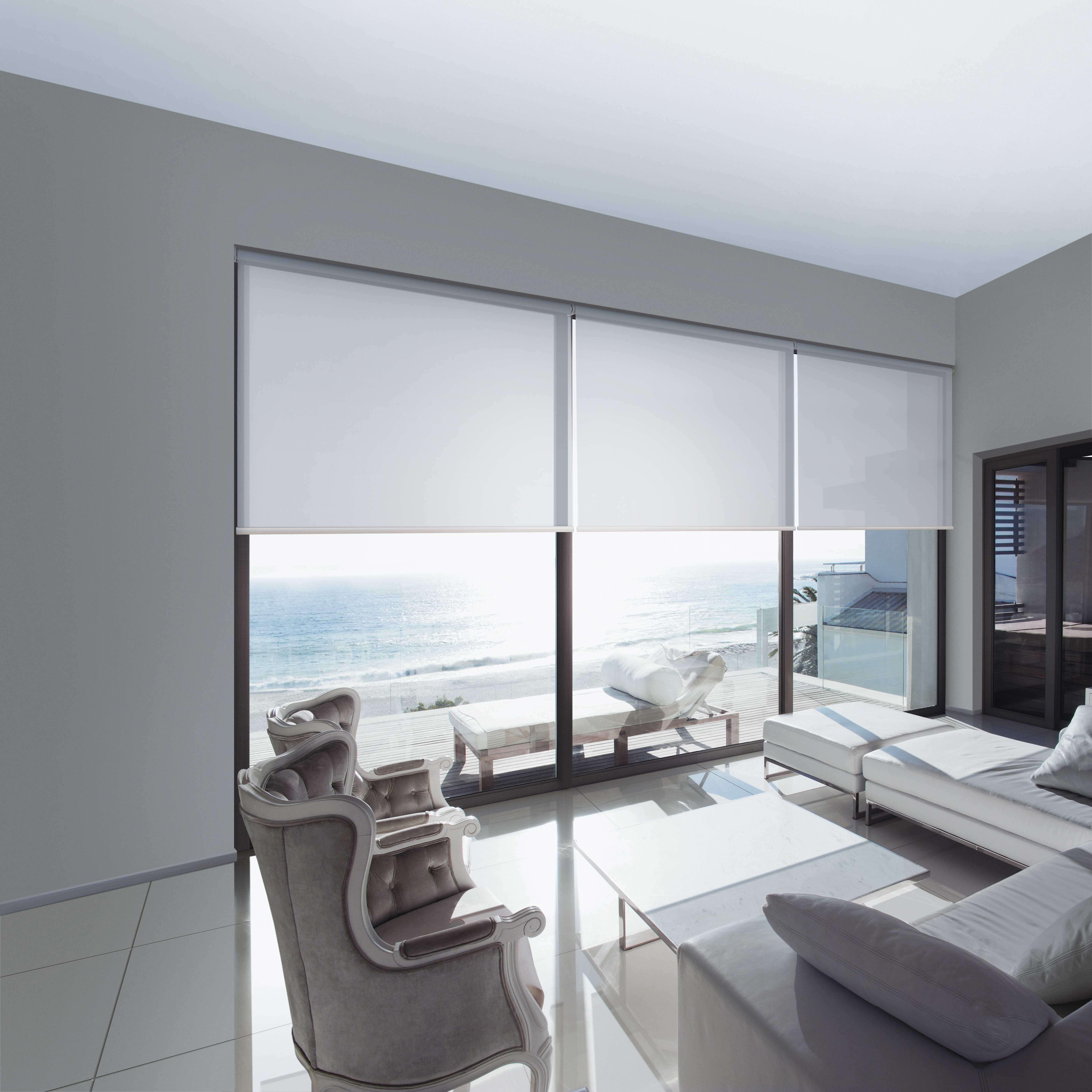 Dollar Curtains & Blinds Sunscreen Linked Roller Blinds