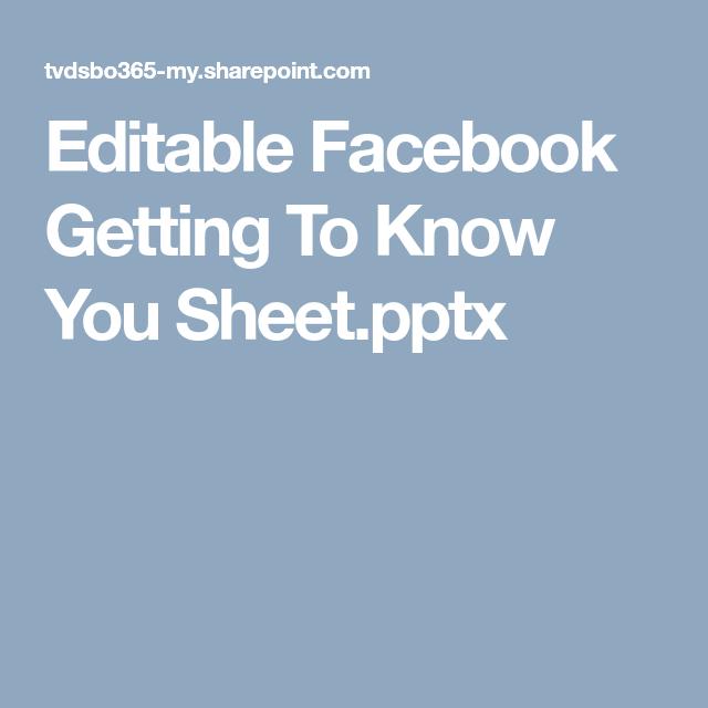 Kennenlernen bei facebook