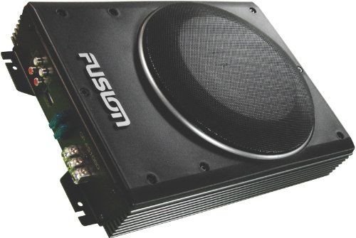 8 Super Slim Under Seat 300w Amplified Subwoofer By Fusion 106 93 The 8 Super Slim 78mm High Active Enclosure Car Audio Systems Car Audio Marine Stereo