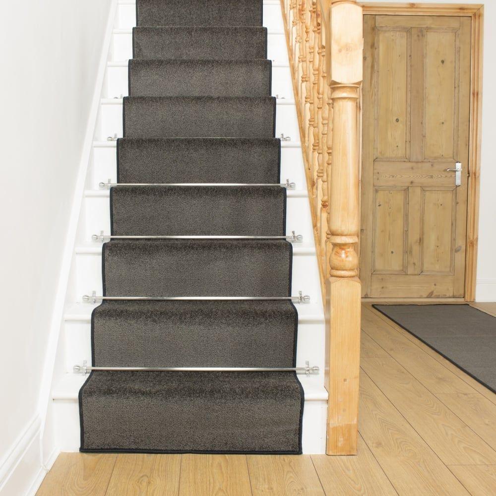 Best Stair Carpet Runner Rods Stair Runner Carpet Gray Stair 640 x 480
