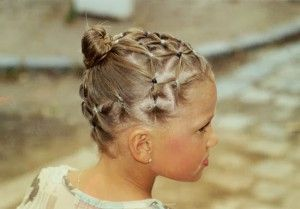 Hairstyle for a little girl