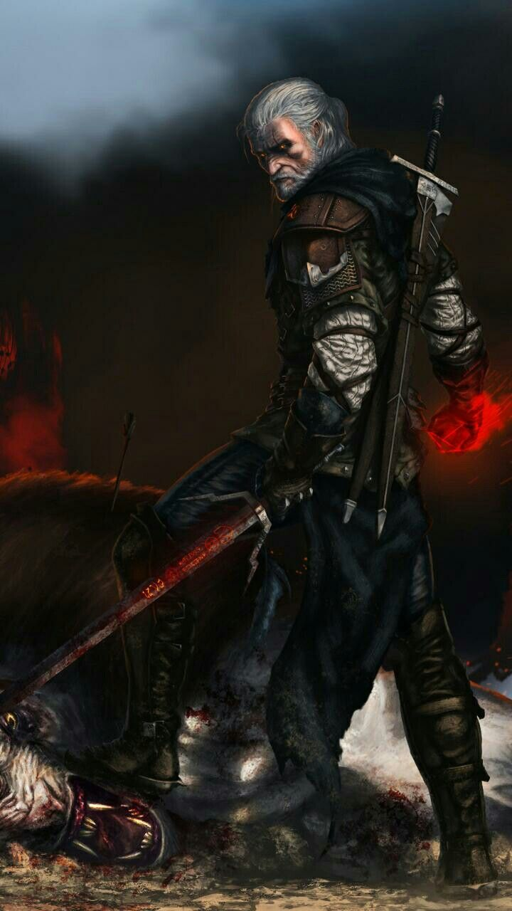 Geralt De Rivia Wallpapers Dibujos The Witcher Sprüche