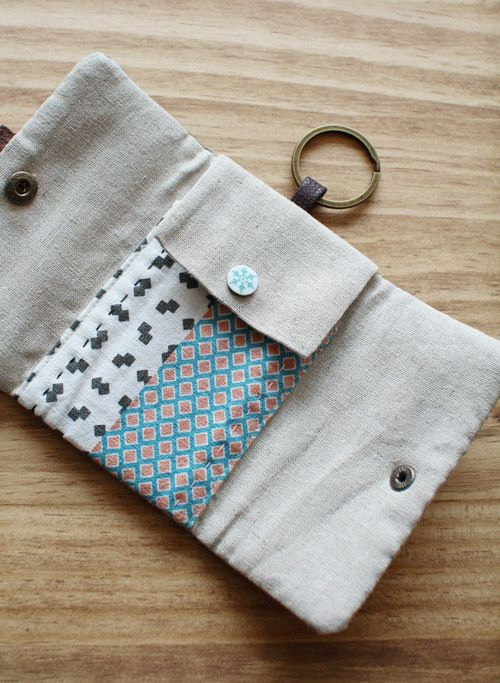 Card Wallet Key Chain Card Wallet Keychain Fabric Cards