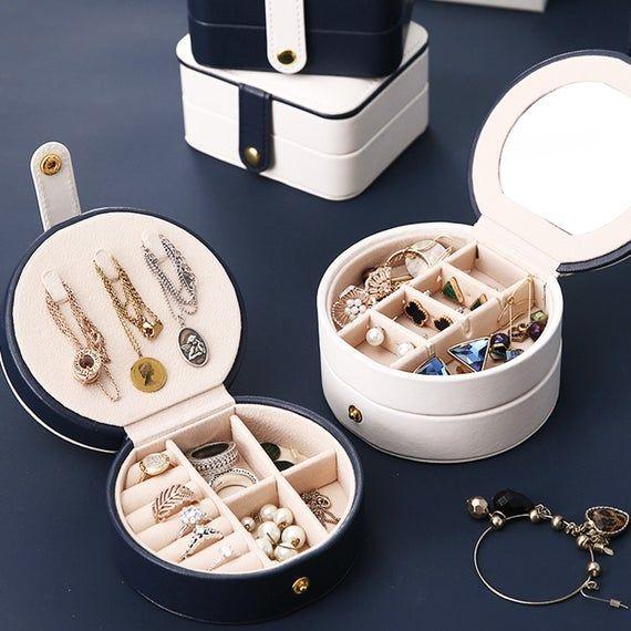 Travel Jewelry Box Portable Jewelry Box Travel Jewelry Organizer Multi Fuction Jewlery Stora Travel Jewelry Box Portable Jewelry Organizer Leather Jewelry Box