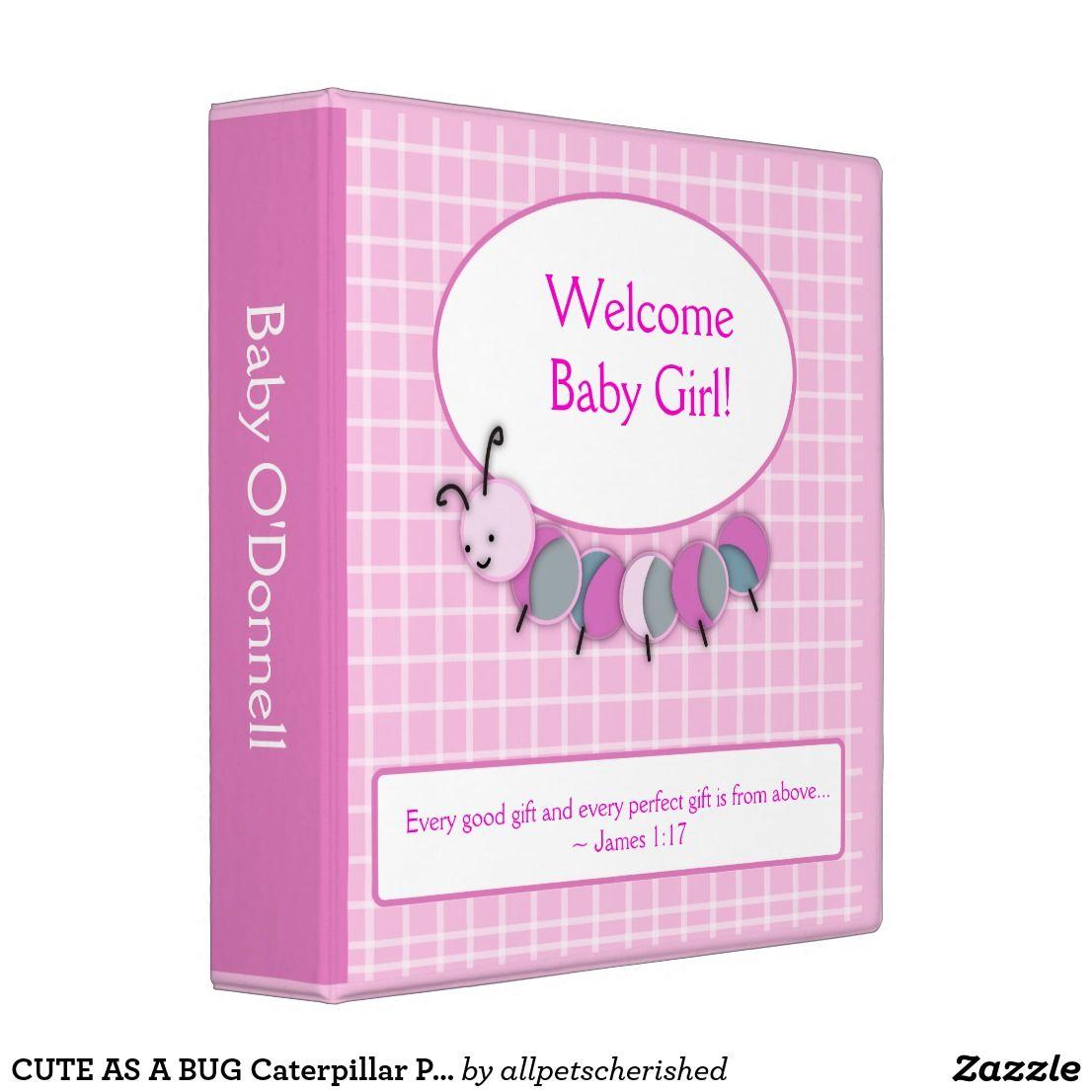 CUTE AS A BUG Caterpillar Photo Album Baby Book Binder
