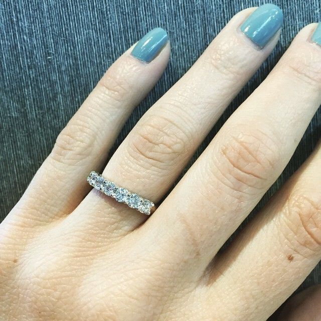 7stone ring made up of 31mm diamonds handmade in our Hatton