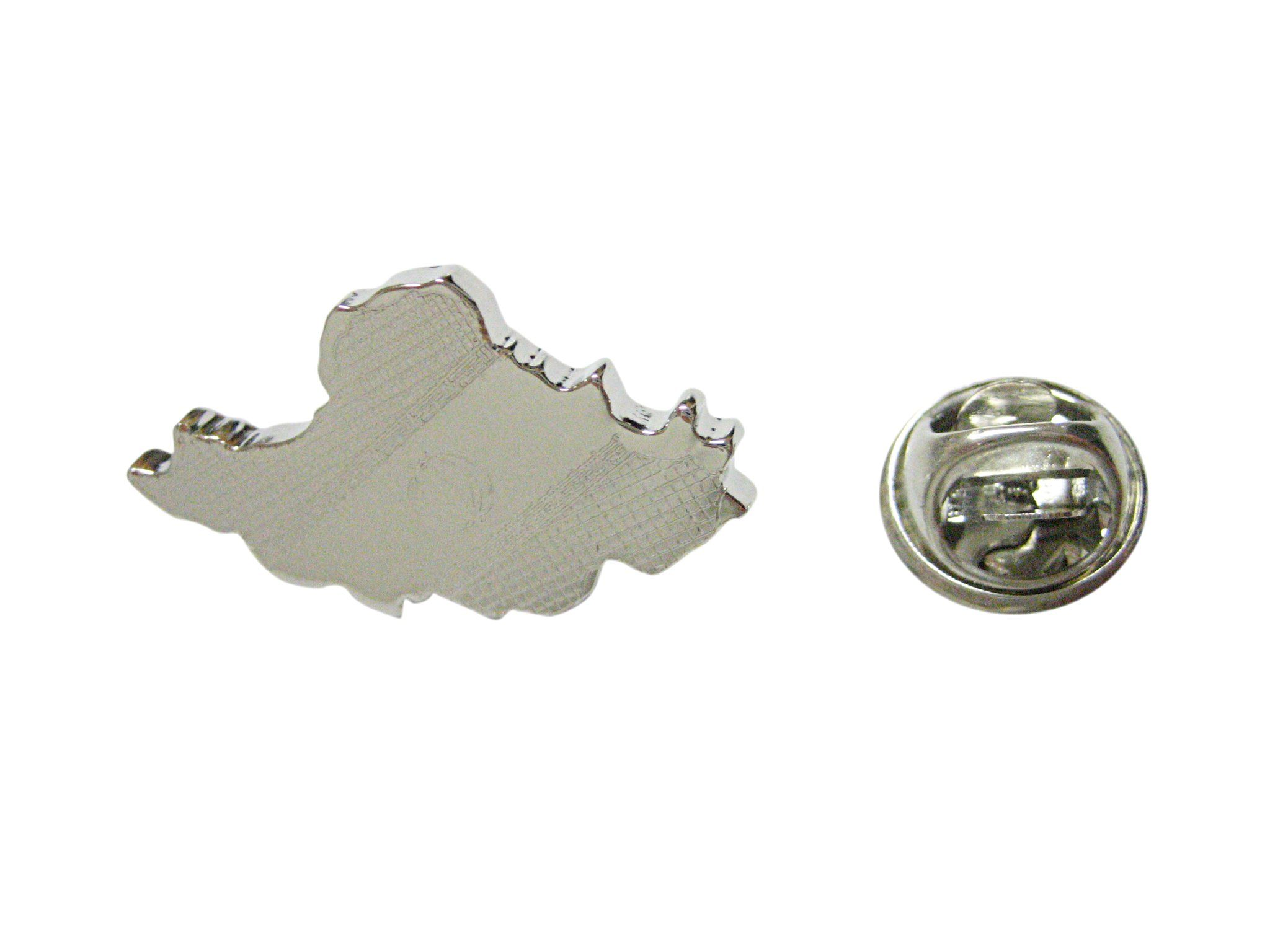 Iran Map Shape and Flag Design Lapel