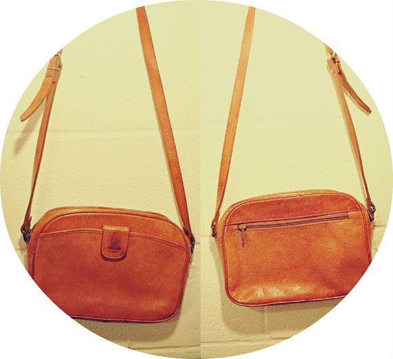 Price change. Classic Vintage Light Brown Genuine Leather Shoulder by dandydigs, $33.00