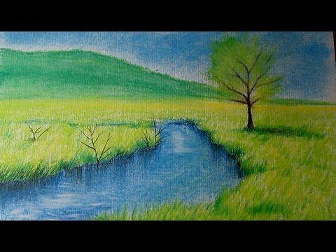 Como Dibujar Un Paisaje Al Pastel Paso A Paso Como Dibujar Arboles Y Reflejos En El Agua Tutorial You Paisajes Dibujos Paisaje A Lapiz Paisaje Para Pintar