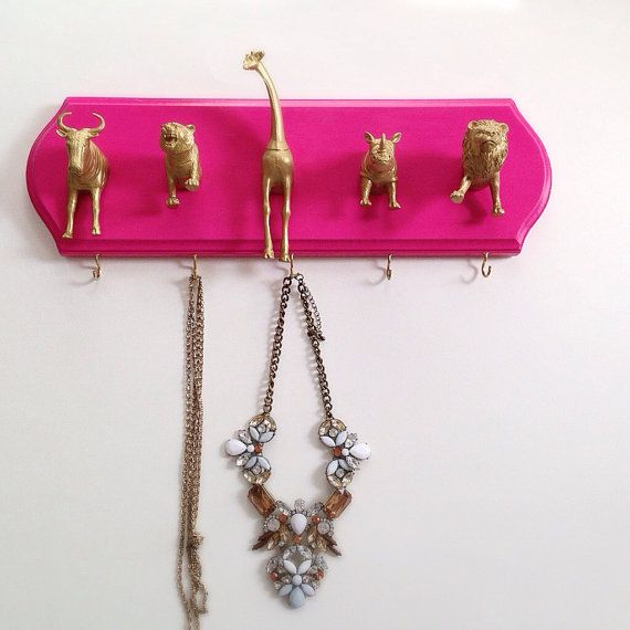 Animal Key Hook and Accessories Hanger Metallic Gold Silver