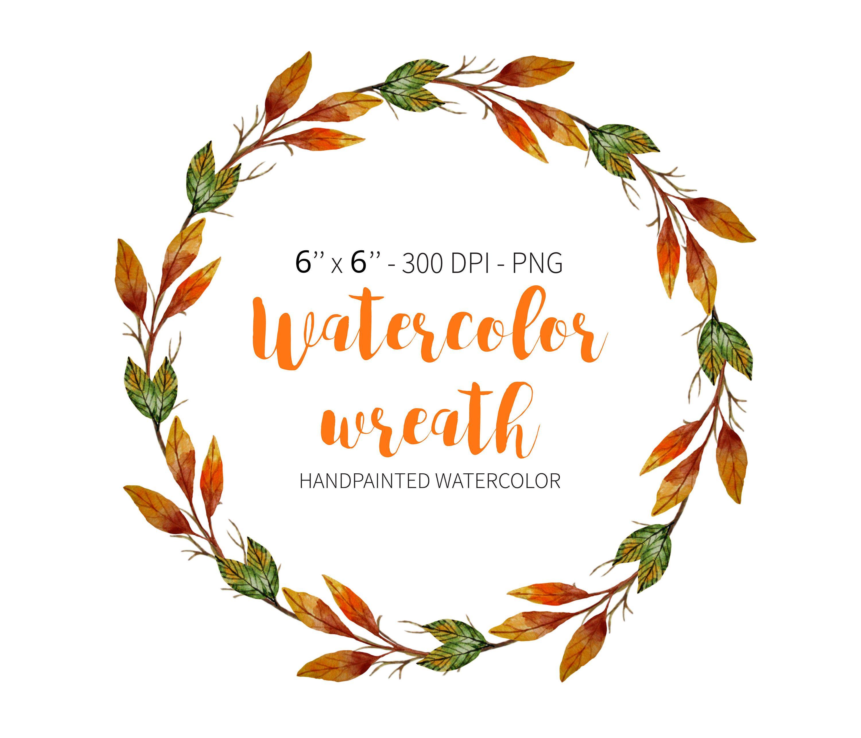 Watercolor Wreath Clipart Autumn Clipart Autumn Wreath Fall Etsy Clipart Herbst Clip Art