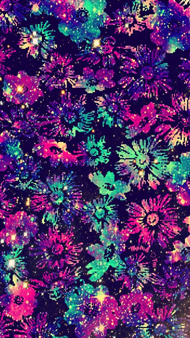 Vintage Flowers Galaxy Wallpaper #androidwallpaper # ...