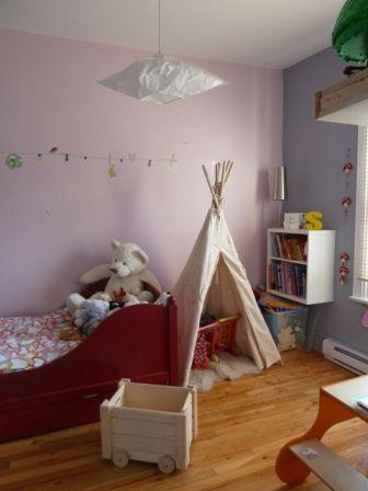 chambre enfant tente tipi mur rose lit rouge Future \u003c3 Pinterest