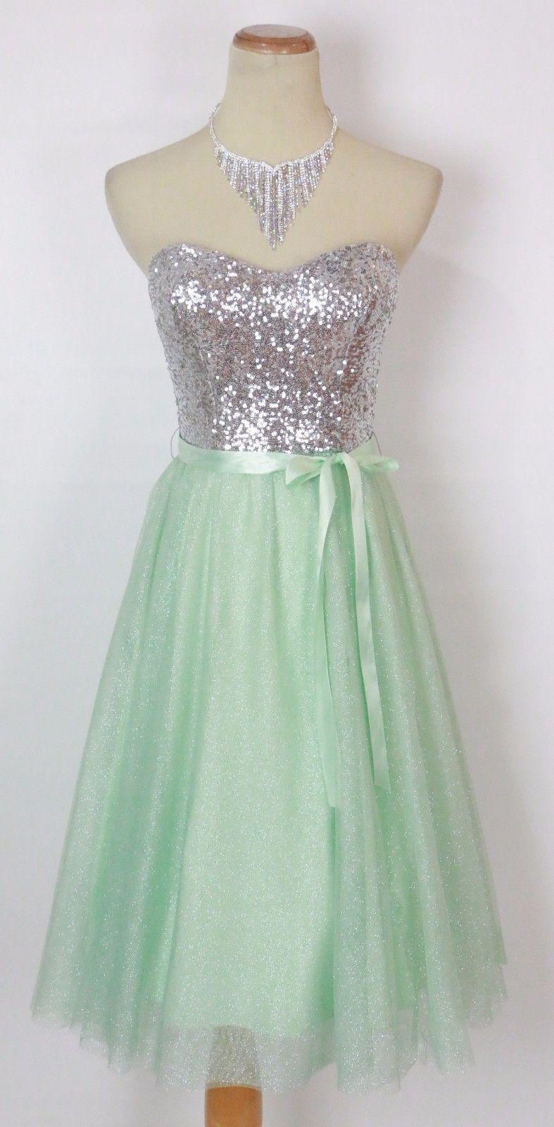 Windsor mint prom formal evening cocktail short dress size