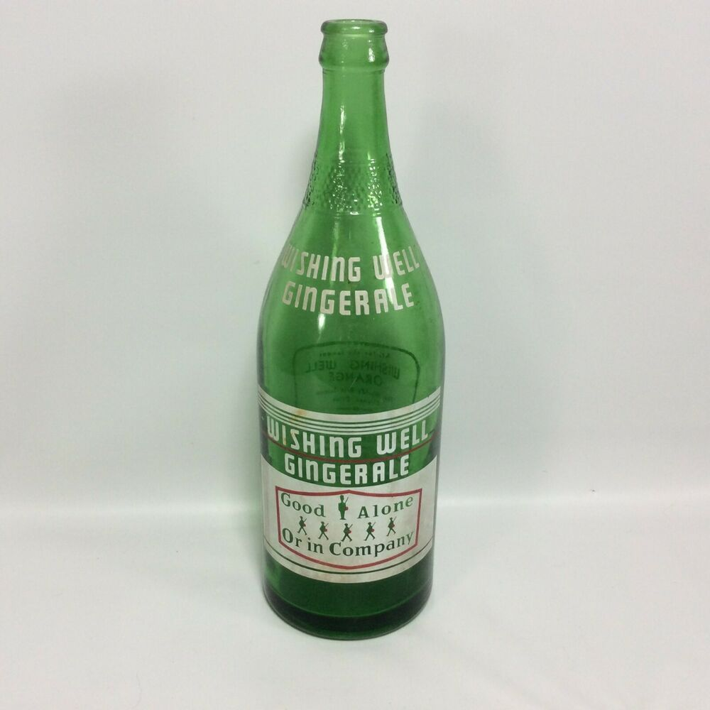 Details About Wishing Well Ginger Ale 30 Oz Green London Ontario Canada National Dry In 2020 Wishing Well Ginger Ale Bottle