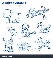 Image Result For Easy To Draw Cartoon Jungle Animals Nursery