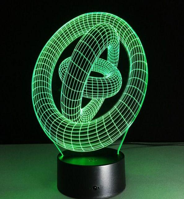 3d Adn Led Nuit Lampe Vente Chaude Abs Tactile Base Abstraite Spirale Ampoule Lampe Led Night Light Table Illusion Decoratif Lampes De Nuit Lampe Lampe A Lave