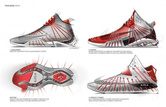 Lebron James Jovan Popovic 4 560x362 Product Design Sketching Shoe Sketches