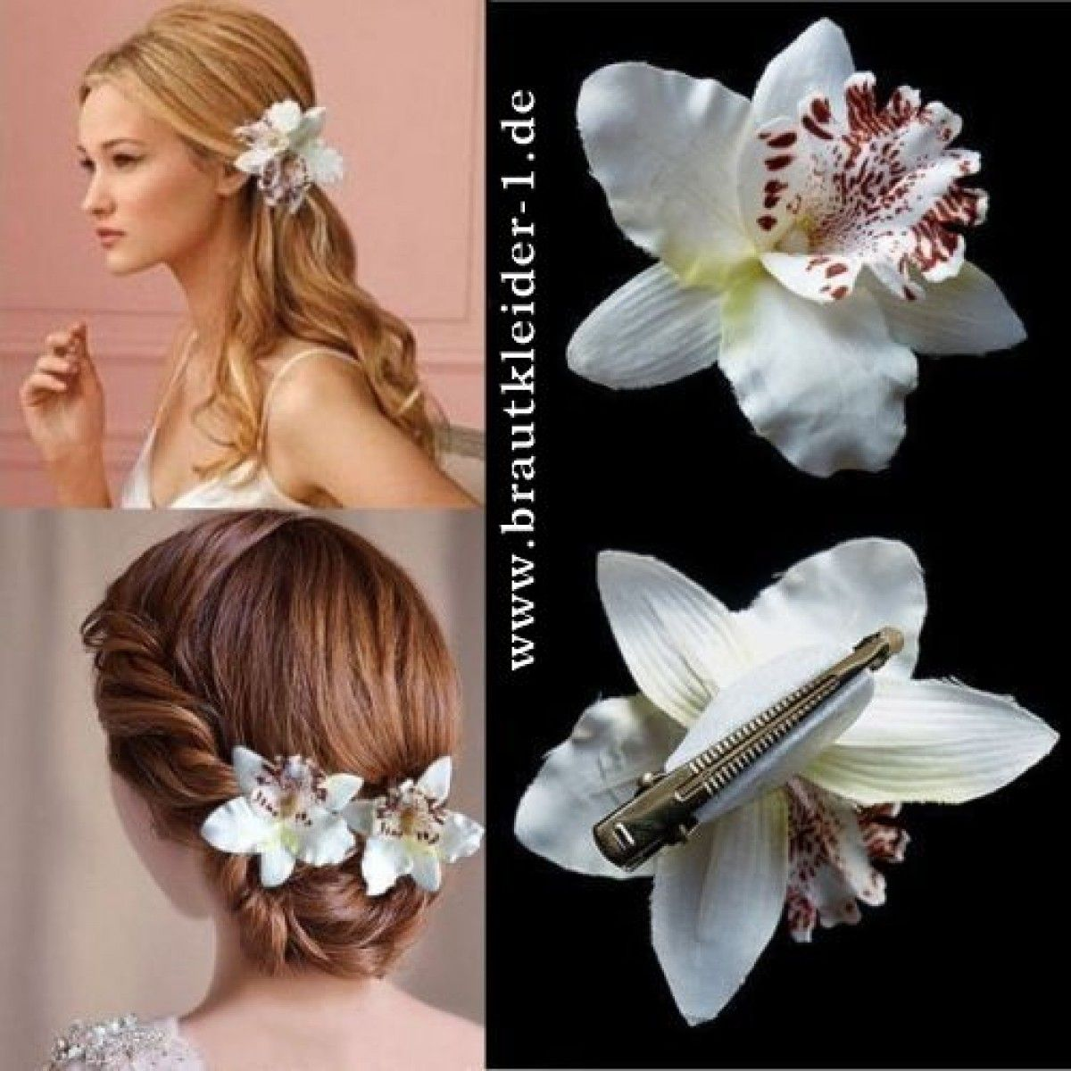 Womens Fashion Flower Haarspange Haarnadel Braut Hochzeit Haarschmuck ZJP