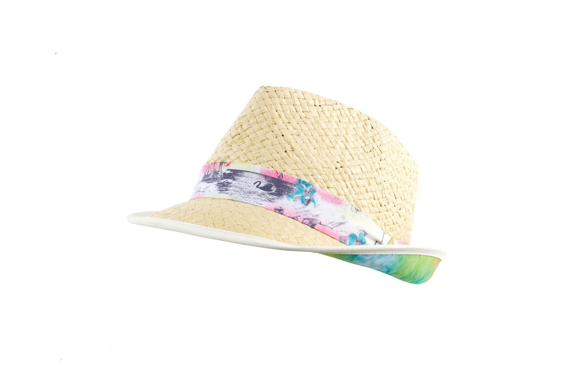 c033f2328c9ea Kadeiloscope Straw Fedora - Keep the sun off while looking cool in the  oversized straw Kaleidoscope