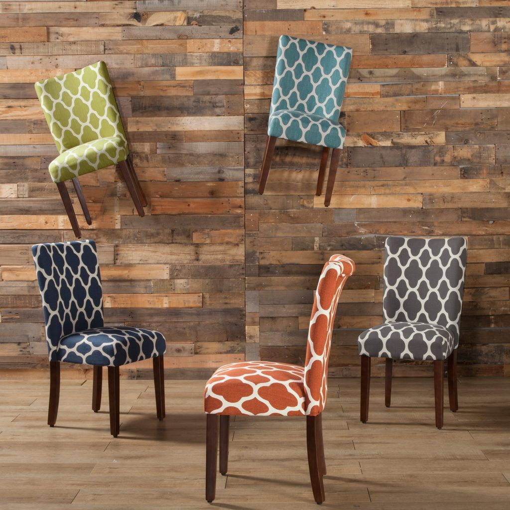 Navy Blue • Geo Brights Parsons Dining Chair (Set of 2 ...