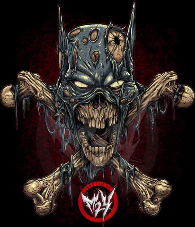 Batskull | tattoo | Cráneos y calaveras, Personajes comic ...