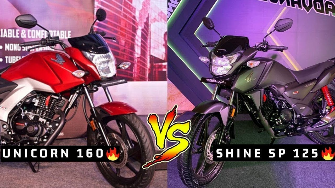 Honda Shine Sp 125 Bs6 V S Honda Cb Unicorn 160 Comparison Best