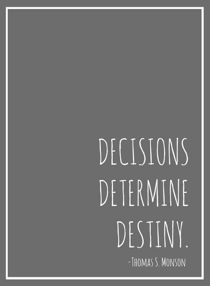 Decisions Determine Destiny © Spitfiregirl Design